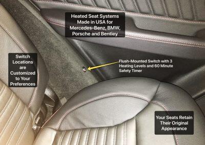 Heated Seat Installed in Mercedez Benz Porsche Audi