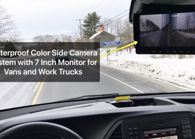 Camera Installations in Vehicles and Trucks Blind Spot Side View Rear View Color