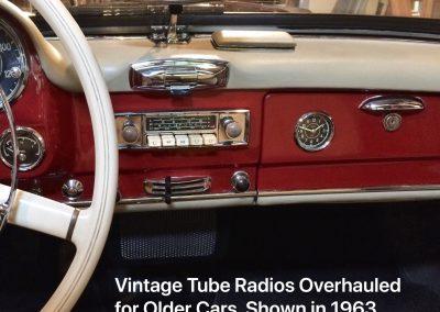 Vintage Tube Radios Overhauled for Older Cards