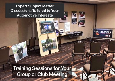 Expert Consultation and Training Sessions Available for Car Clubs and Events