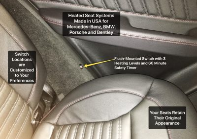 Heated Seat Installed in Mercedez Benz Porsche Audi