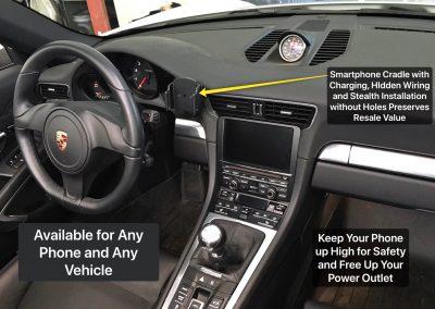 Smartphone Integration Installation in a Porsche